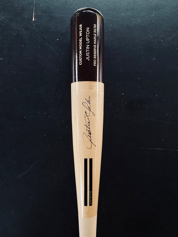"JUSTIN UPTON ""ART OF HITTING"" AUTOGRAPHED BAT - BLACK, [prouduct_type], [Warstic]"