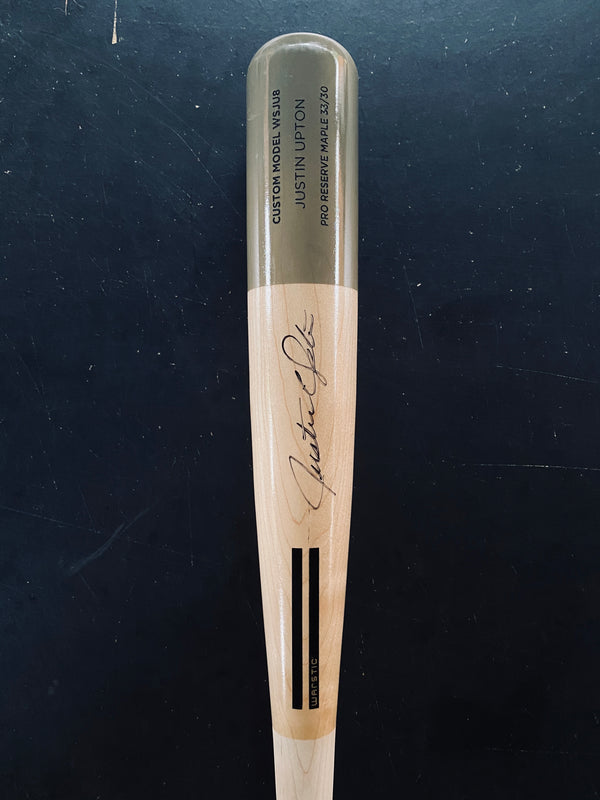 "JUSTIN UPTON ""ART OF HITTING"" AUTOGRAPHED BAT - GRAY, [prouduct_type], [Warstic]"