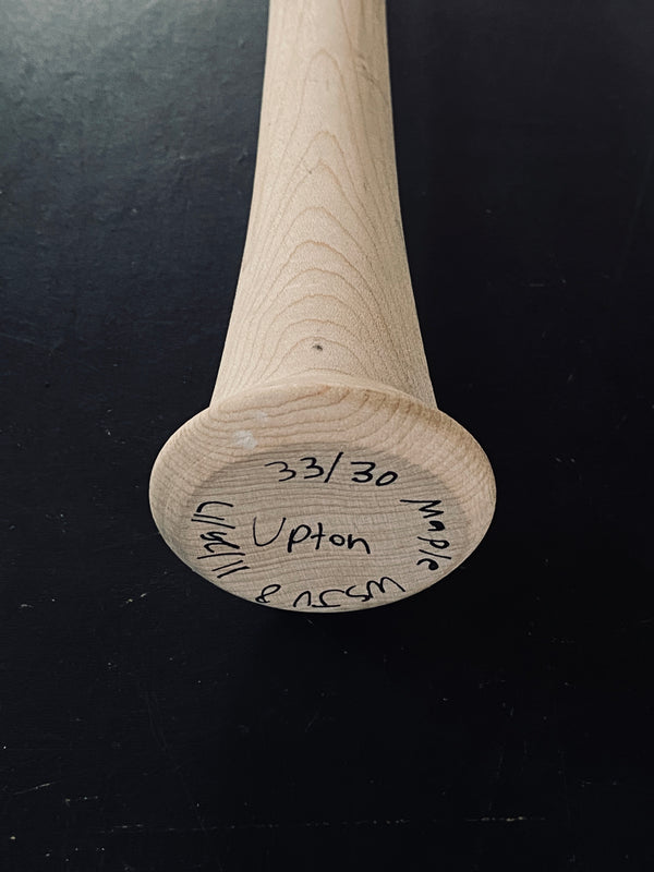 "JUSTIN UPTON ""ART OF HITTING"" AUTOGRAPHED BAT - GREEN, [prouduct_type], [Warstic]"