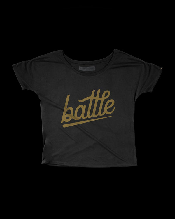 BATTLE WOMEN'S TEE (BLACK)