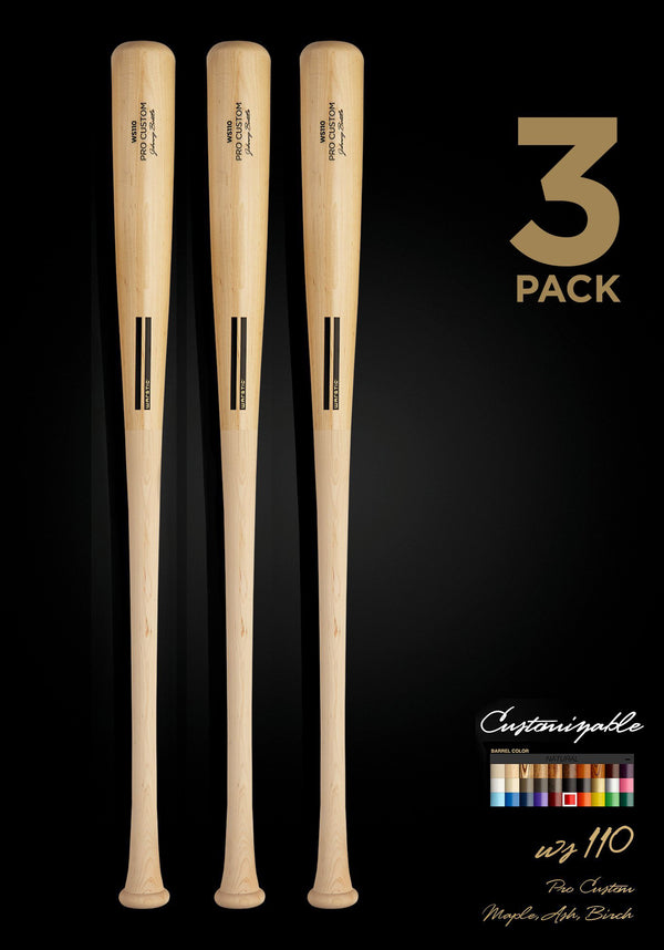 WS110 WOOD BAT 3 PACK