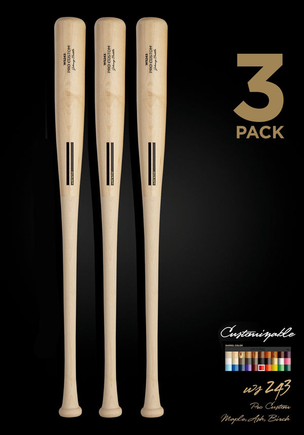 WS243 WOOD BAT 3 PACK