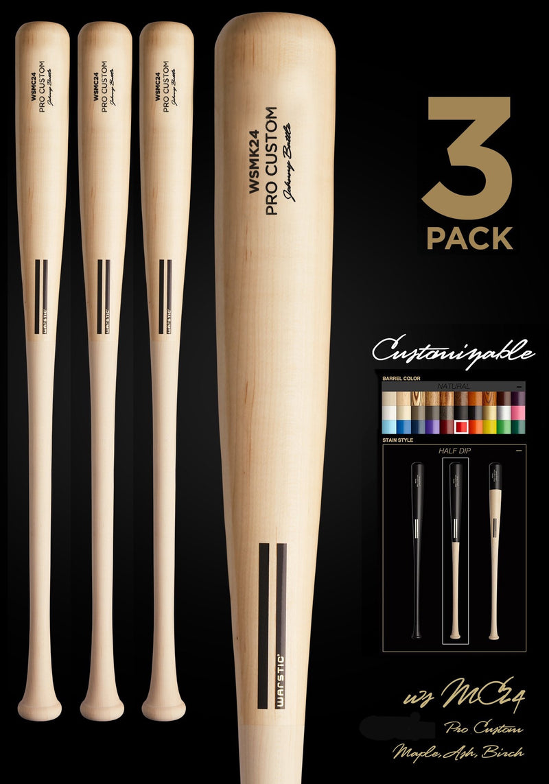 WSMC24 (MIGUEL CABRERA MODEL) WOOD BAT 3 PACK