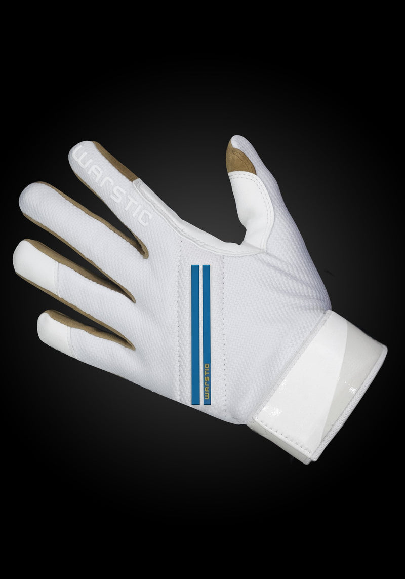 "WORKMAN2 ADULT & YOUTH BATTING GLOVES ""WHITE/ROYAL"", [prouduct_type], [Warstic]"