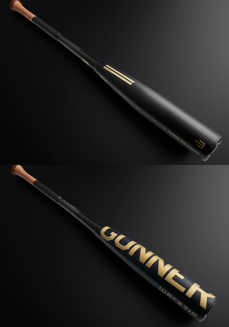 THE GUNNER LTD. EDITION BLACK BBCOR METAL BASEBALL BAT, [prouduct_type], [Warstic]