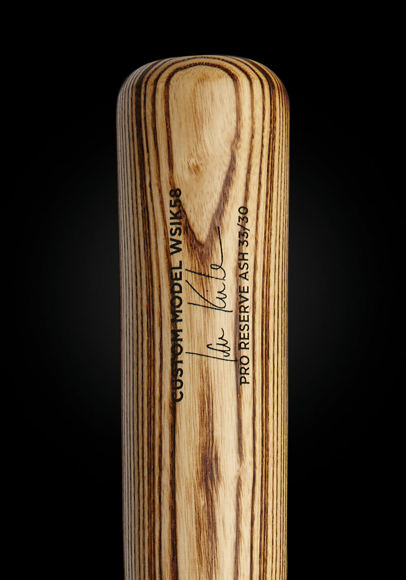 Ian Kinsler WSIK58 Natural Ash Pro Signature Wood Bat, [prouduct_type], [Warstic]