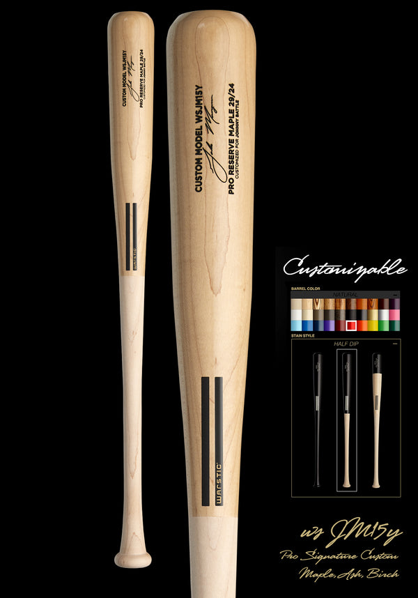 Jake Mangum WSJM15Y YOUTH CUSTOMIZABLE PRO SIGNATURE WOOD BAT