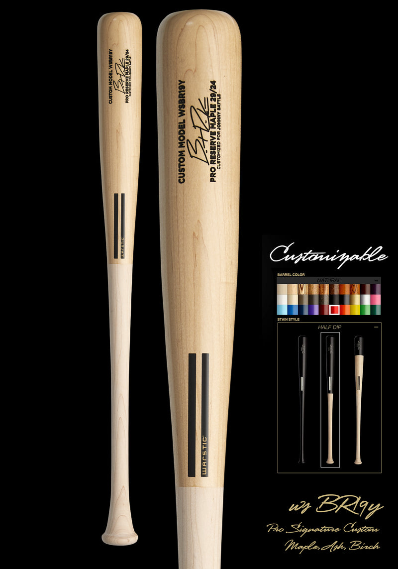 Brent Rooker WSBR19Y YOUTH CUSTOMIZABLE PRO SIGNATURE WOOD BAT