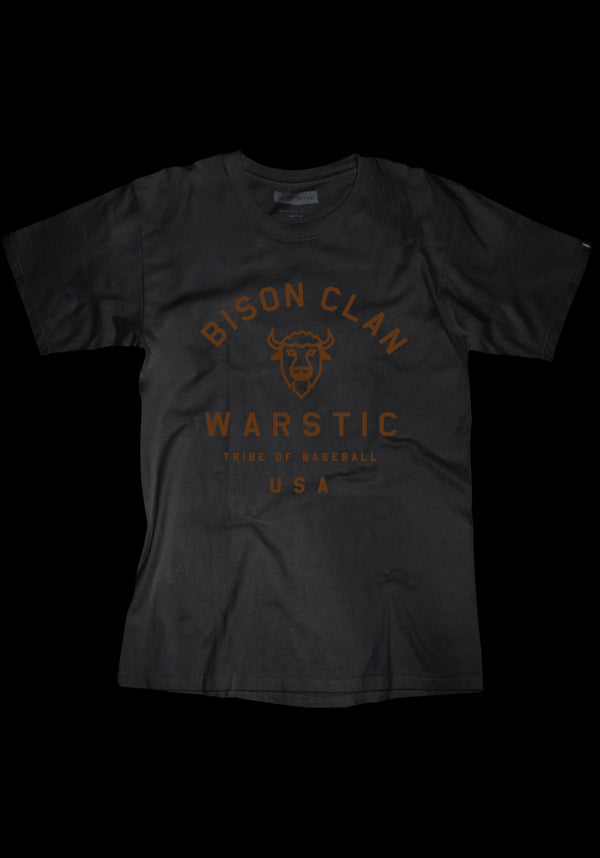 TEAM WARSTIC BISON CLAN TEE (BLACK), [prouduct_type], [Warstic]
