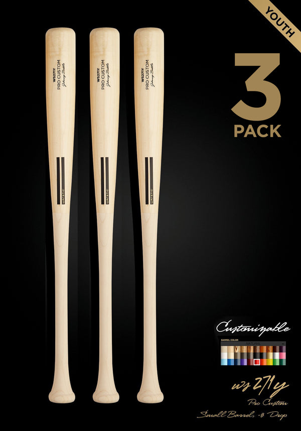 WS271Y WOOD BAT 3 PACK, [prouduct_type], [Warstic]
