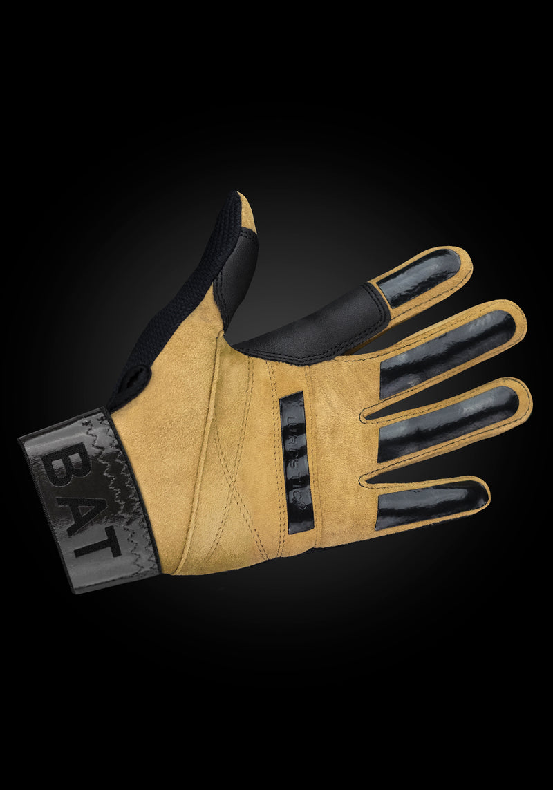 "WORKMAN2 ADULT & YOUTH BATTING GLOVES ""BLACK/CROWN"", [prouduct_type], [Warstic]"