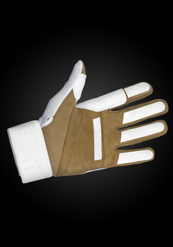 "WORKMAN2 ADULT & YOUTH BATTING GLOVES ""WHITE/ROYAL"""