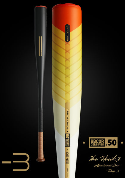 The HAWK2 Fire Tail BBCOR Metal Bat (-3), [prouduct_type], [Warstic]