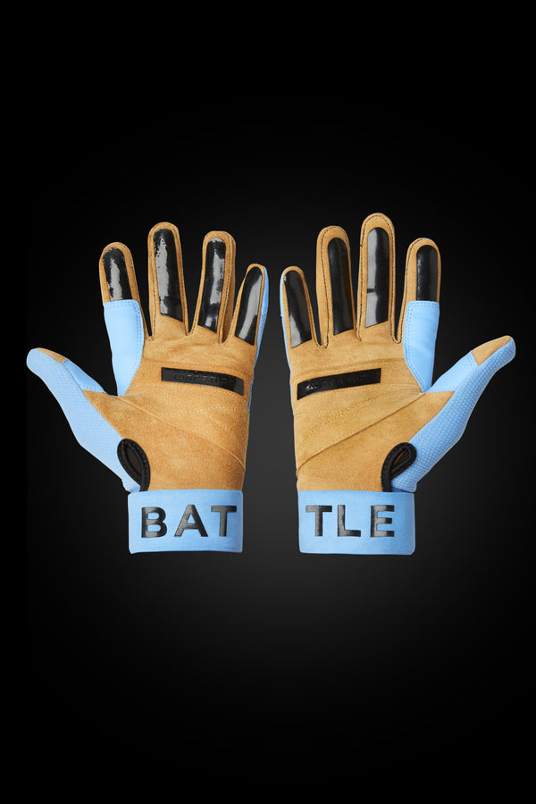"WORKMAN3 ADULT & YOUTH BATTING GLOVES ""LIGHT BLUE"""