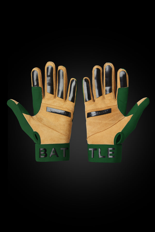 "WORKMAN3 ADULT & YOUTH BATTING GLOVES ""GREEN"""