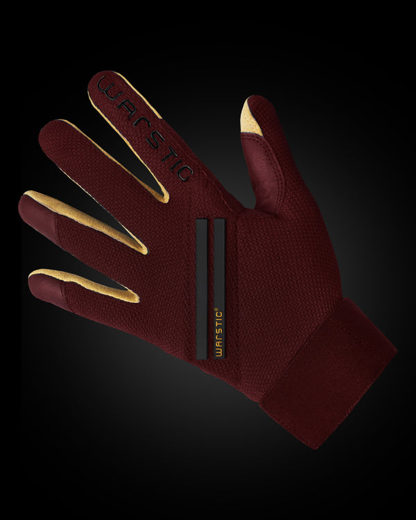 "WORKMAN3 ADULT & YOUTH BATTING GLOVES ""MAROON"""