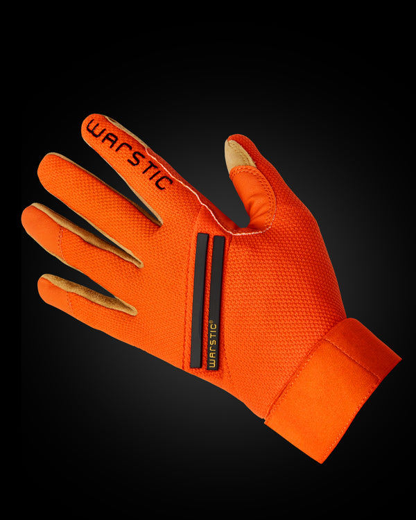 "WORKMAN3 ADULT & YOUTH BATTING GLOVES ""ORANGE"""