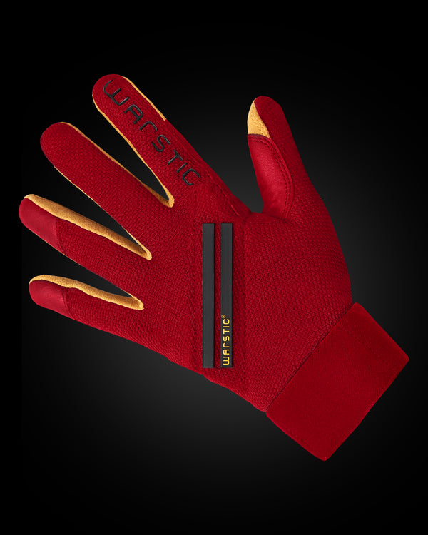 "WORKMAN3 ADULT & YOUTH BATTING GLOVES ""RED/BLACK"""
