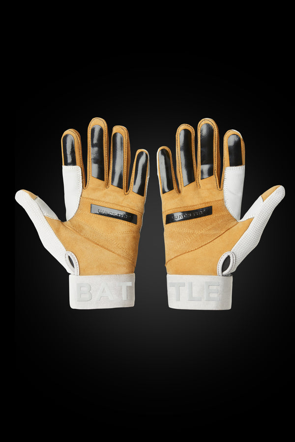 "WORKMAN3 ADULT & YOUTH BATTING GLOVES ""WHITEOUT"""