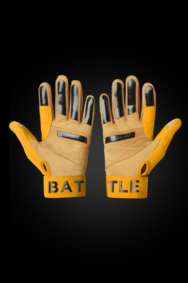 "WORKMAN3 ADULT & YOUTH BATTING GLOVES ""YELLOW"""