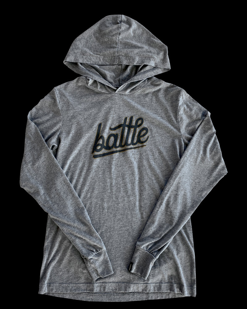 BATTLE LONG SLEEVE HOODIE TEE (GRAY/BLACK/GOLD), [prouduct_type], [Warstic]