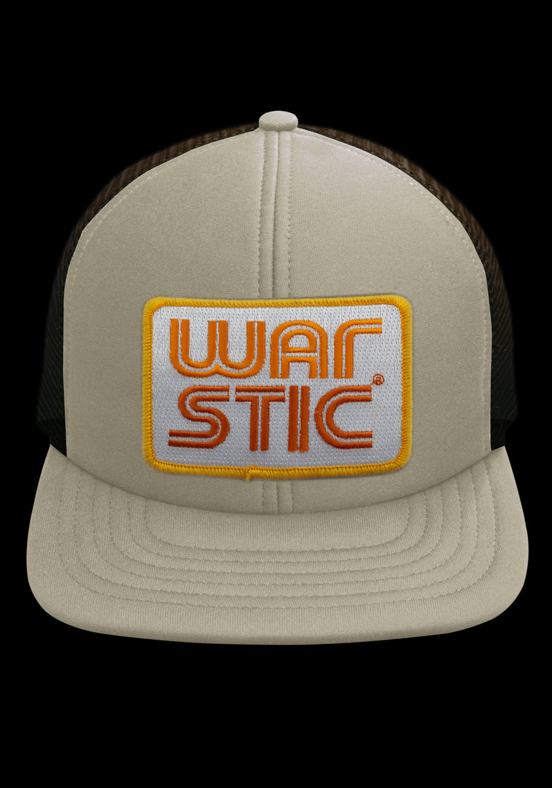 WEST COAST FOAM TRUCKER HAT (WHITE/TOBACCO/FIRE), [prouduct_type], [Warstic]