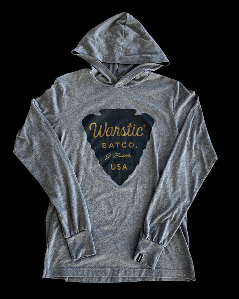Arrowhead Long Sleeve Hoodie Tee (Gray), [prouduct_type], [Warstic]