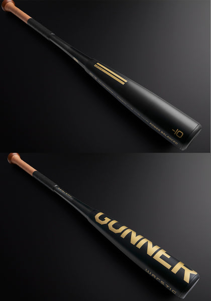"Limited Edition Black & Gold Gunner 2-PC Youth 2 3/4"" Metal Bat (-10), [prouduct_type], [Warstic]"
