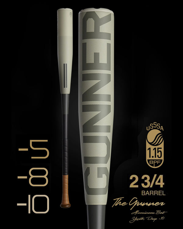 THE GUNNER USSSA METAL BASEBALL BAT