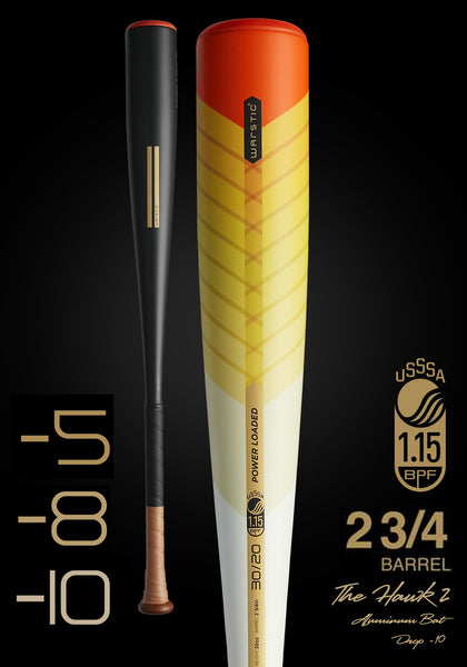 The HAWK2 Ltd. Edition Fire Tail USSSA Metal Baseball Bat