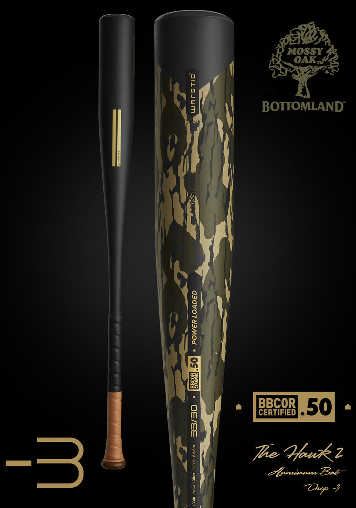 HAWK2 Ltd. Edition Mossy Oak BBCOR Metal Baseball Bat