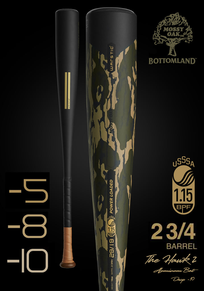 HAWK2 Ltd. Edition Mossy Oak USSSA Metal Baseball Bat