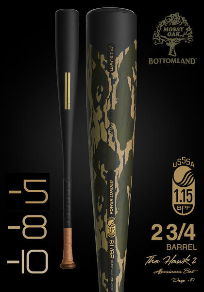 PRE-ORDER || The HAWK2 Ltd. Edition Mossy Oak USSSA Metal Baseball Bat, [prouduct_type], [Warstic]