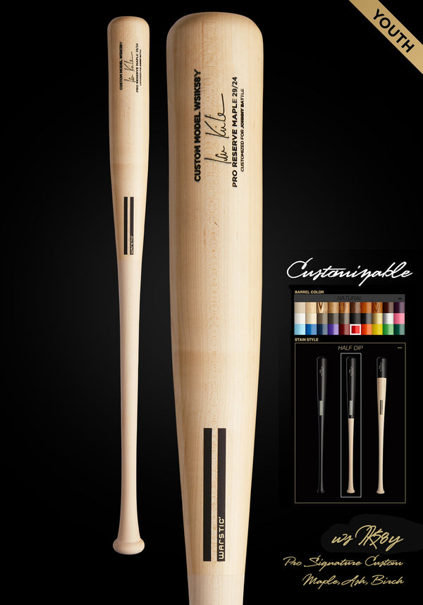 IAN KINSLER WSIK58Y YOUTH CUSTOMIZABLE PRO SIGNATURE WOOD BAT, [prouduct_type], [Warstic]