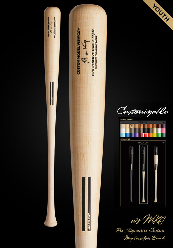 MATT KEMP WSMK27Y YOUTH CUSTOMIZABLE PRO SIGNATURE WOOD BAT, [prouduct_type], [Warstic]