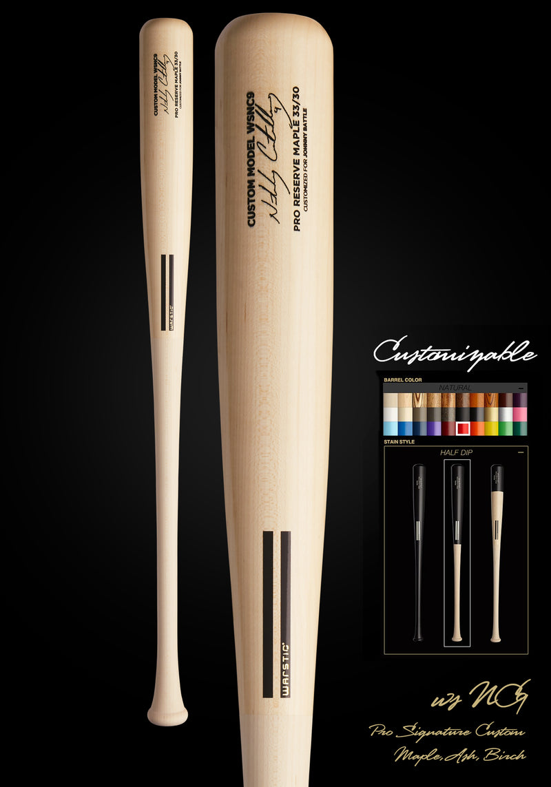 Nick Castellanos WSNC9 Customizable Pro Signature Wood Bat, [prouduct_type], [Warstic]