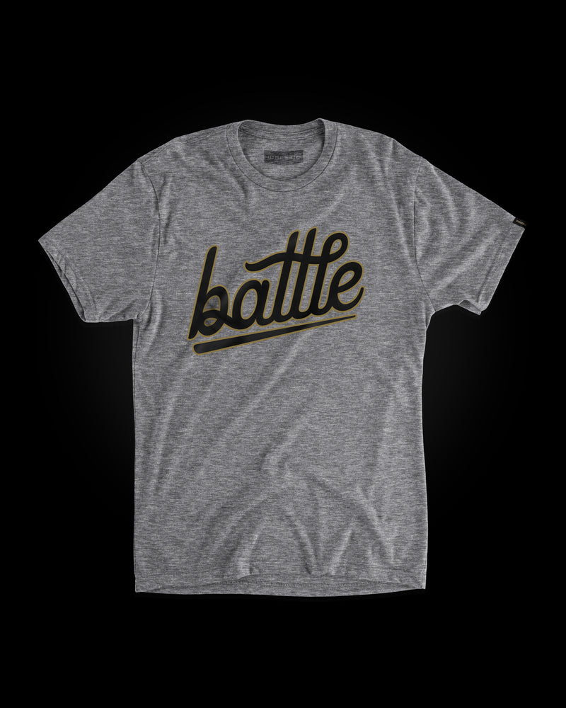 BATTLE TEE (GRAY/BLACK/GOLD)