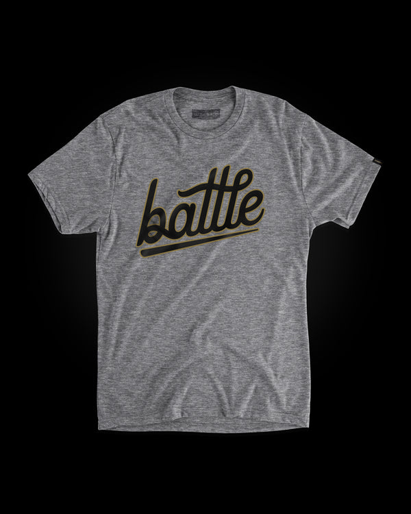 BATTLE YOUTH TEE (GRAY/BLACK/GOLD)