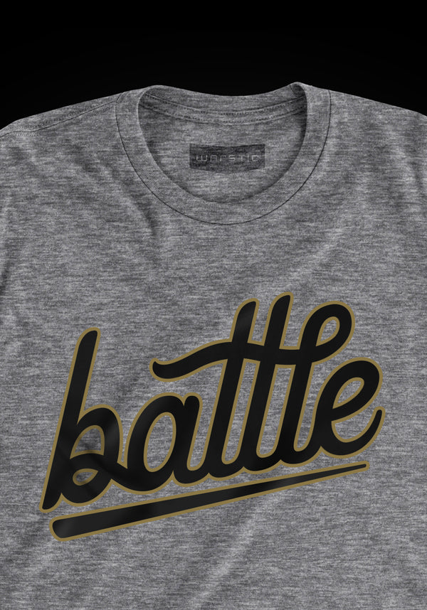 BATTLE YOUTH TEE (GRAY/BLACK/GOLD), [prouduct_type], [Warstic]