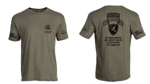 SFC Ethan Carpenter, 75th Ranger Regiment, Memorial Shirt