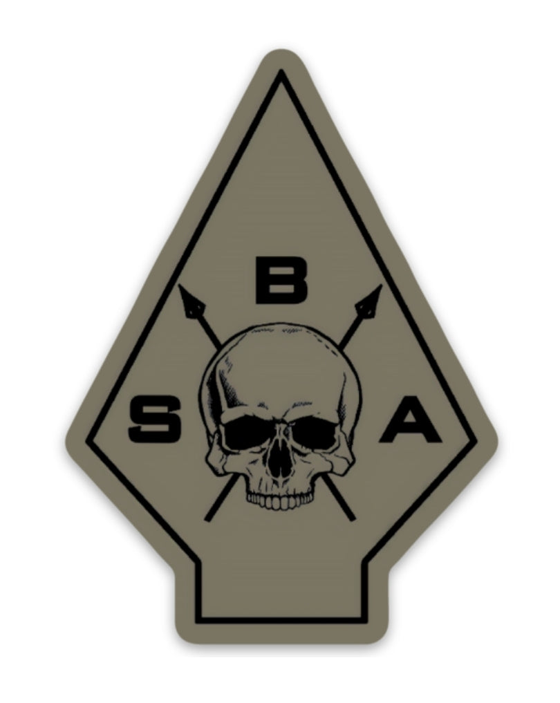 BSA OD Green Spear logo Sticker