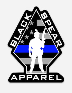BSA Thin Blue Line Operator Sticker