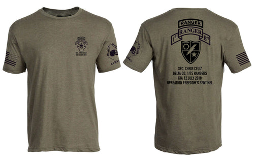 Memorial Shirt for SFC. Christopher Celiz 1/75 Ranger Regiment