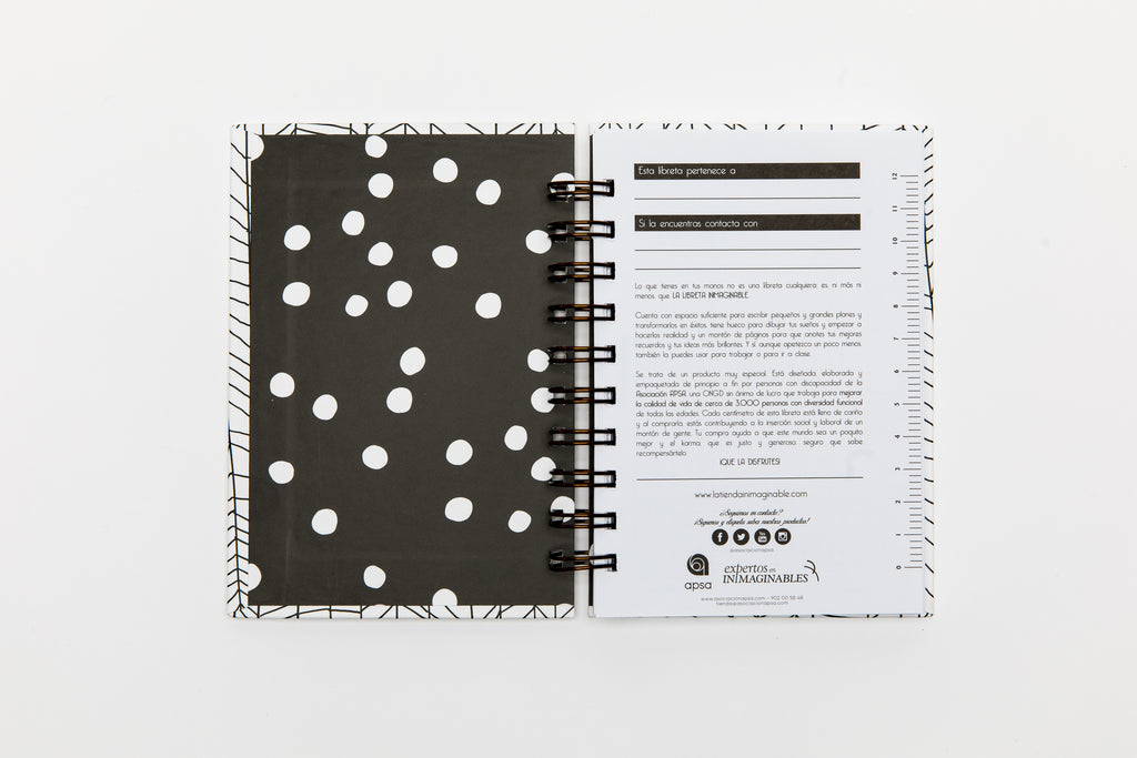 Libreta Inimaginable A6 Blue Monday