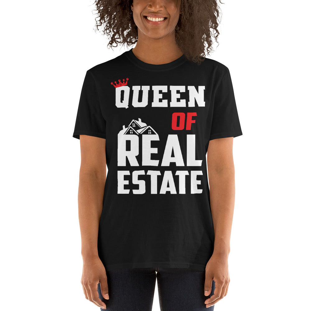 Queen of Real Estate Short-Sleeve Unisex Tee
