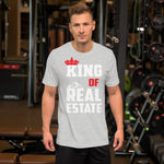 King of Real Estate Short-Sleeve Unisex Tee Shirt