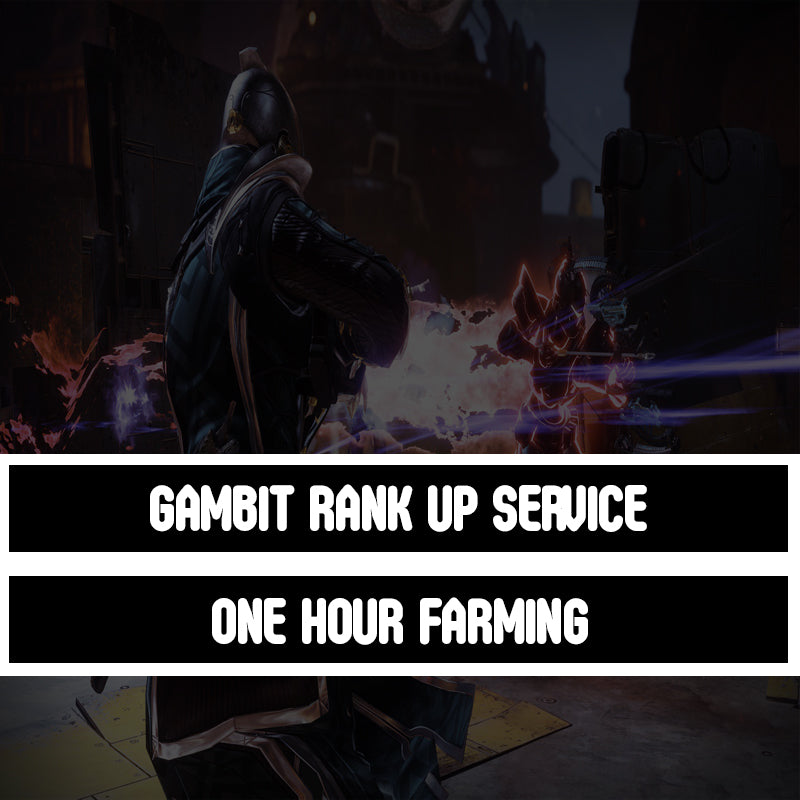Destiny 2 Forsaken - Gambit Infamy Rank Up Service 10 Games