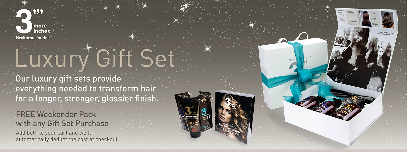 Free weekender with every gift set purchase