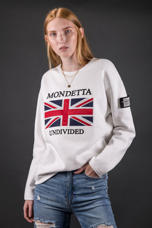 Unity Women's Modern Fit Sweater - Great Britain - White