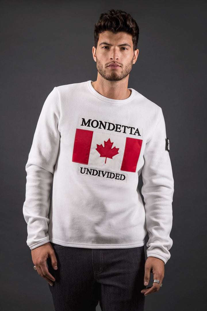 Homage Men's Classic Fit Sweater - Canada - White